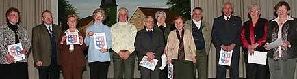Wer bereits 50 Jahre lang in der Landsmannschaft Mitglied ist, durfte sich über eine Urkunde freuen