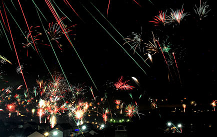 Feuerwerk über Drabenderhöhe