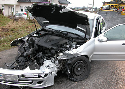 Unfall auf der Zeitstraße