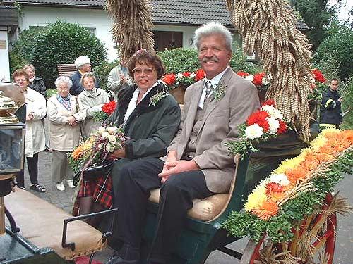 Erntepaar Maria und Manfred Kallweit