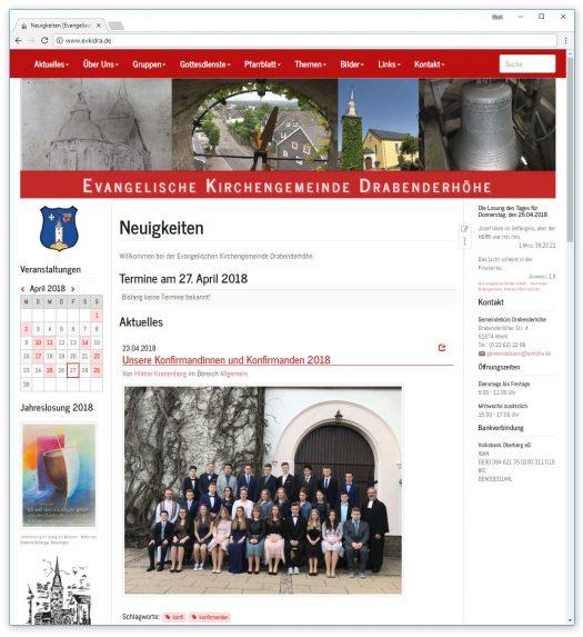 Die Homepage der Evangelischen Kirchengemeinde Drabenderhöhe