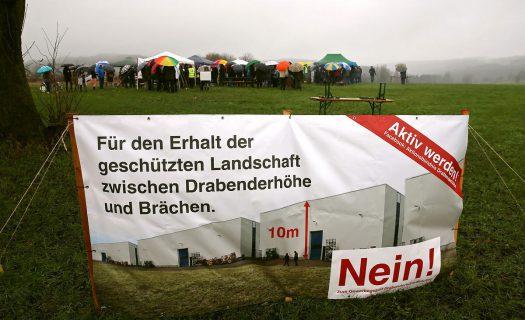 Protestaktion auf der Zirkuswiese beim Lidl-Markt. Fotos: Christian Melzer