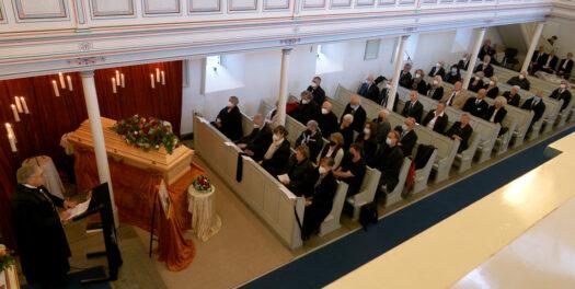 Trauergottesdienst für Kurt Franchy in Drabenderhöhe